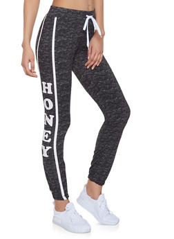 Honey Graphic Joggers - 1056038347306