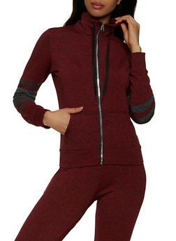 Color Block Sleeve Detail Sweatshirt - 1056038347324