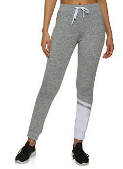 Color Block Ankle Detail Joggers - 1056038347325