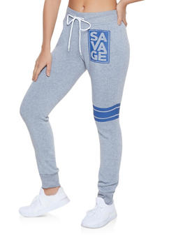 Savage Graphic Sweatpants - 1056038347342