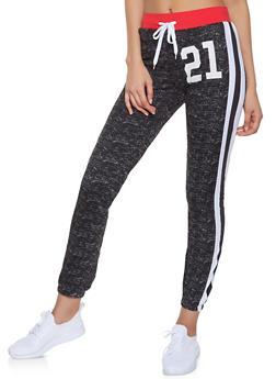 21 Graphic Varsity Stripe Sweatpants - 1056038347345