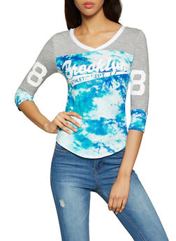 Brooklyn Graphic Printed Baseball Tee - 1056038347350