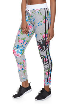 Printed Varsity Stripe Joggers - Multi - Size XL - 1056038347363