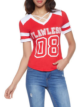 Flawless Graphic Caged Tee - 1056038347372