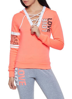 Lace Up Love Sweatshirt - 1056038347401