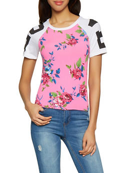 Floral Love Graphic Tee - 1056038347412