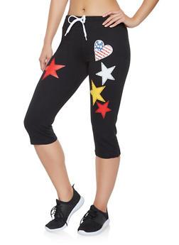 Americana Capri Sweatpants - 1056038347521