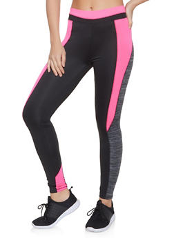 Color Block Active Leggings - 1056038347651
