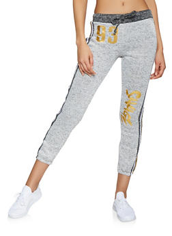 Savage Foil Capri Sweatpants - 1056038348421