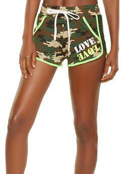 Love Graphic Dolphin Shorts - 1056038348507