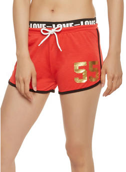 Love Graphic Dolphin Shorts - 1056038348508