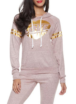 Foil Love Graphic Sweatshirt - 1056038348610