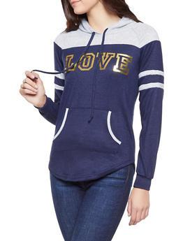 Love Foil Graphic Knit Sweatshirt - 1056038348620