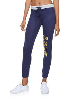 Love Foil Graphic Sweatpants - 1056038348621