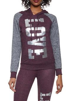 Love Graphic Pullover Sweatshirt - 1056038348670