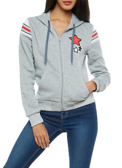Star Graphic Zip Up Sweatshirt - 1056051060037
