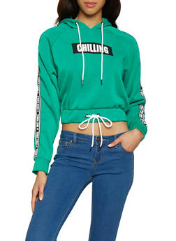 Just Chill Graphic Tape Sweatshirt - 1056051060043