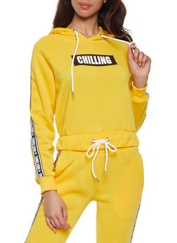 Just Chill Graphic Tape Sweatshirt - 1056051060043