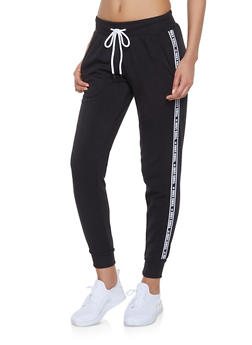 Just Chill Graphic Tape Sweatpants - 1056051060044