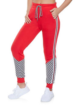 Checkered Detail Sweatpants - 1056051060092