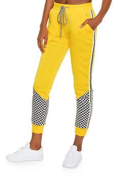 Checkered Detail Sweatpants - 1056051060092