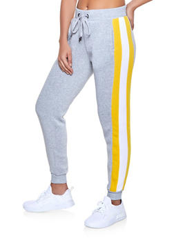 Striped Side Sweatpants - 1056051060094