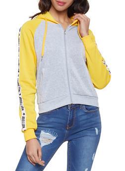Not Today Graphic Hooded Sweatshirt - 1056051060720