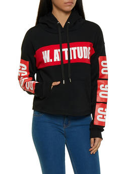 With Attitude Graphic Hooded Sweatshirt - 1056051060730