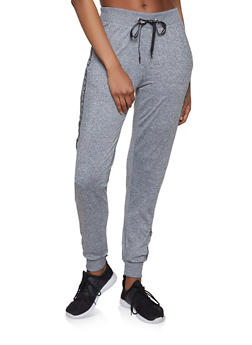 Love Varsity Stripe Tape Activewear Joggers - 1056051060871
