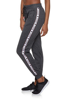 Marled Love Tape Trim Sweatpants - 1056051060881