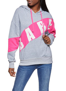 Babe Color Block Sweatshirt - 1056051064311