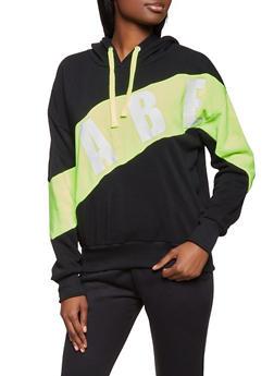 Babe Color Block Sweatshirt - 1056051064311