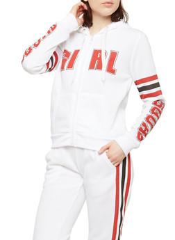 Girl Squad Zip Front Sweatshirt - 1056051066144