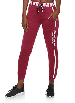 Babe Good Vibes Only Knit Joggers - 1056051066961