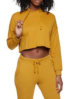 Cropped Hooded Sweatshirt - 1056054260677