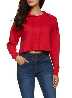 Cropped Pullover Sweatshirt - 1056054261748