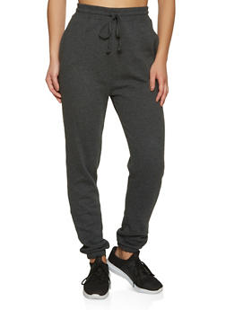 Fleece Lined Solid Joggers | 1056054261749 - 1056054261749