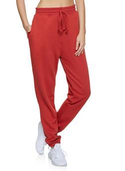 Fleece Lined Solid Joggers | 1056054261749 - 1056054261749