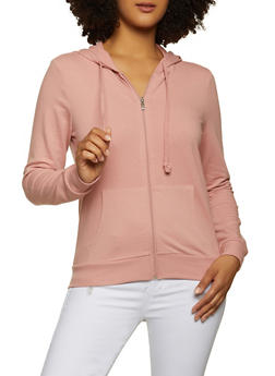 French Terry Lined Hooded Sweatshirt - 1056054266750