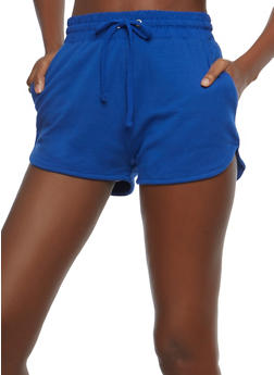 French Terry Activewear Shorts - RYL BLUE - 1056054268290