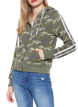 Hooded Camo Sweatshirt - 1056056722100
