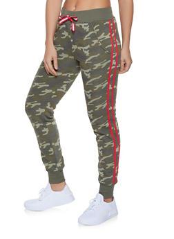 Varsity Stripe Camo Joggers - 1056056722101