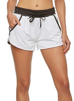 Contrast Trim Activewear Shorts - 1056072290016