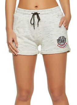 Love Graphic Roll Cuff Shorts - 1056072290035