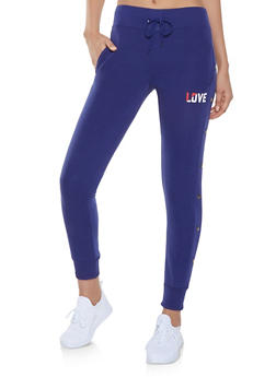 Love Graphic Joggers - 1056072292861