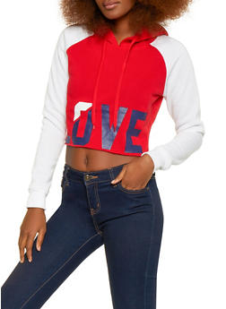 Love Graphic Hooded Sweatshirt - 1056072292870