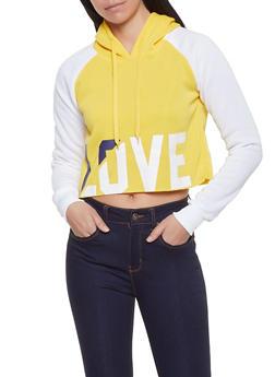 Love Graphic Hooded Sweatshirt - 1056072292870