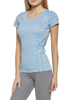 Reebok Scoop Neck Short Sleeve Active Top - 1057076041170