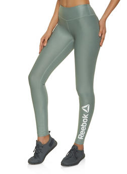 Reebok Solid Active Leggings - 1057076041842