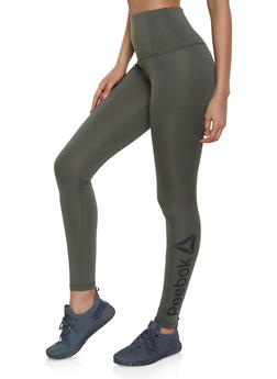 Reebok Active Leggings with Graphic Logo - 1057076041934